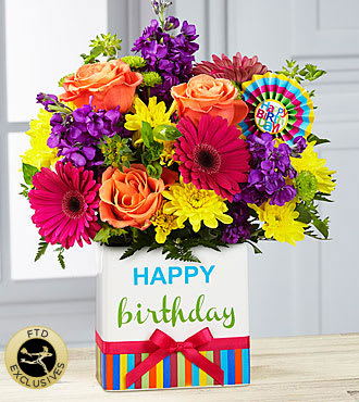 Birthday Brights In Dallas Tx I Love Roses Florist