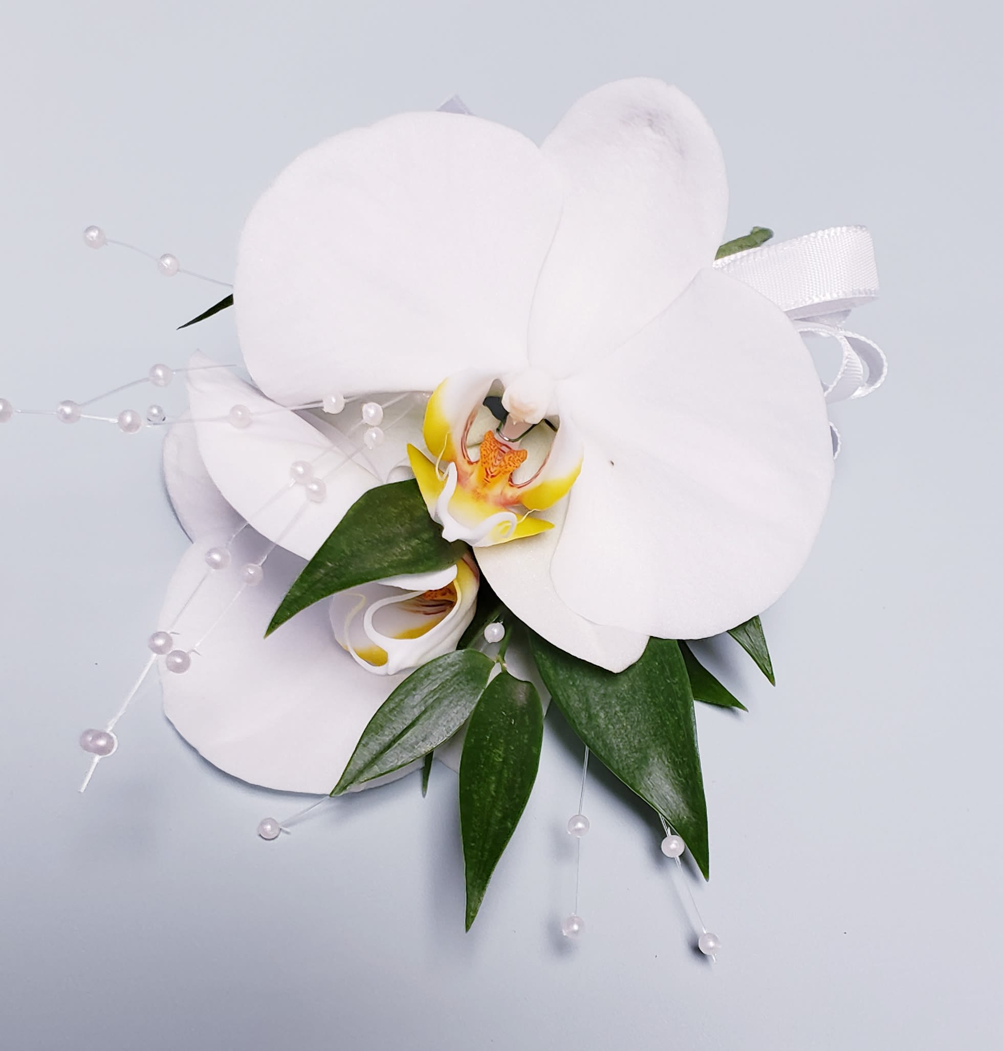 White Orchid Corsage Pick Up Only In La Habra Ca Louis Gardens