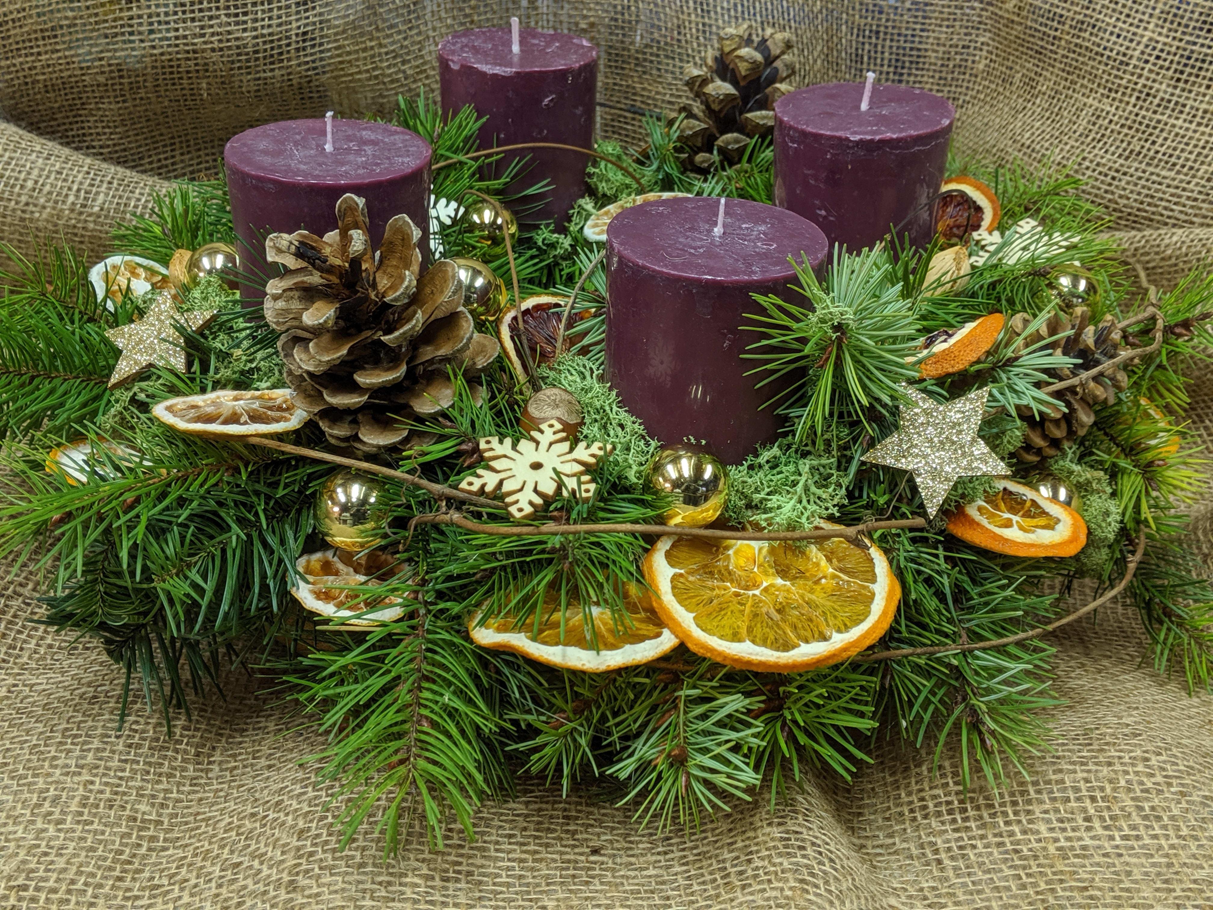 Fresh Advent Wreath In Kent Wa Remble Bee Botanical Designs