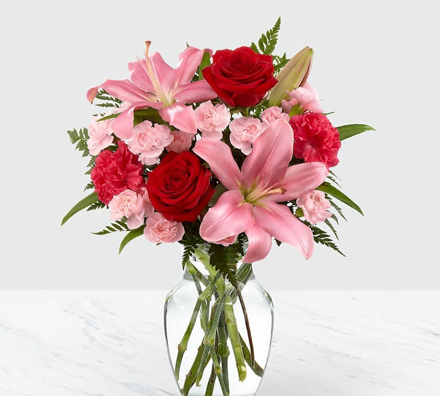 Hearts Emotions Bouquet - VASE INCLUDED in Sutton, WV