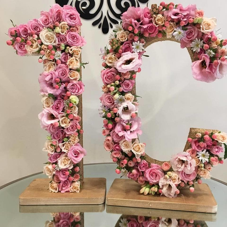 Large Floral Letter Customized Flower Letters By Laazati In