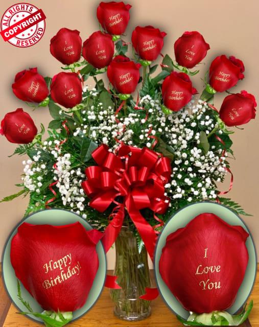 12 Roses 6 I Love You 6 Happy Birthday In Las Vegas Nv
