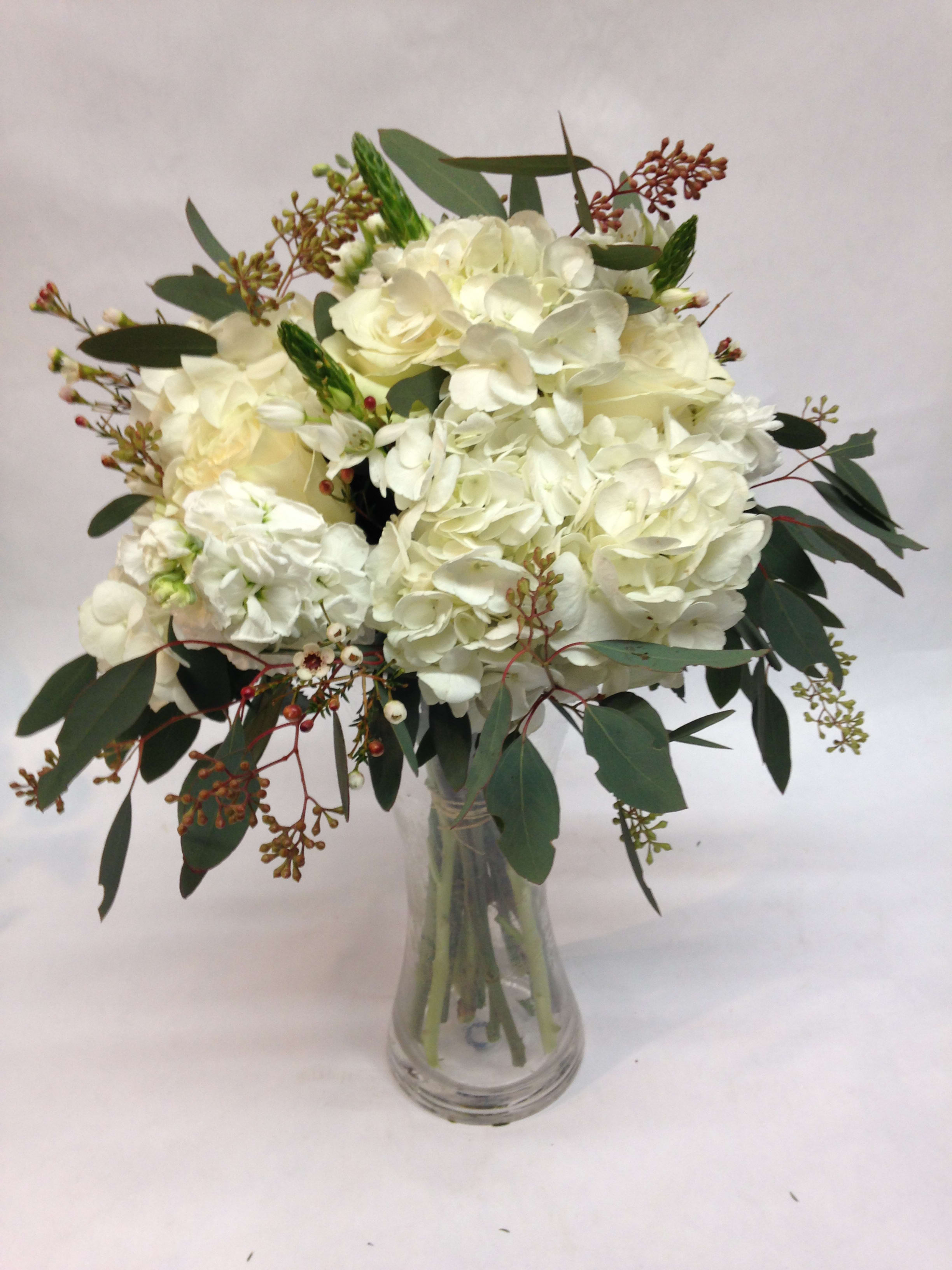 Textured Hydrangea Bouquet In San Francisco Ca Flowers Of The