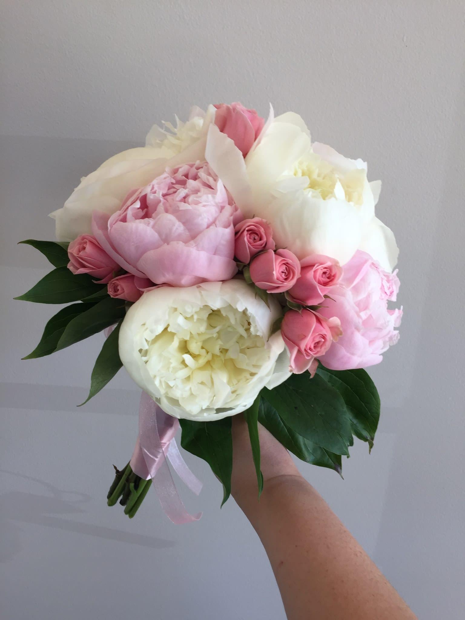 Peony And Rose Handheld In Mount Laurel Nj Flowers By Elizabeth