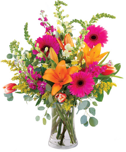 Lively Lilies And Gerbera Daisies By Flower Shop Network In