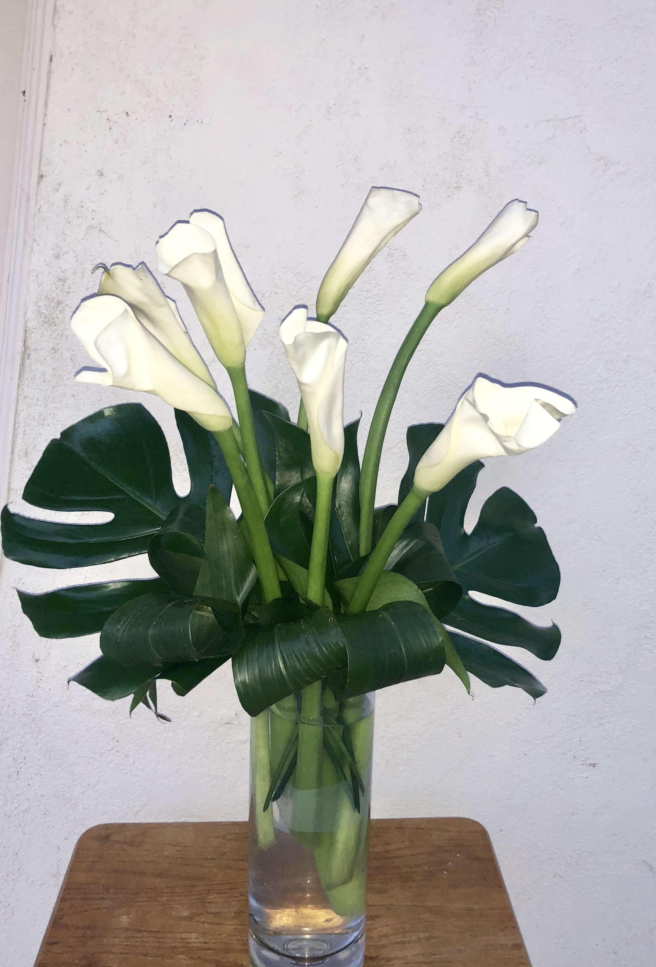 Elegant Calla Lily Bouquet In Placentia Ca Orchids Little