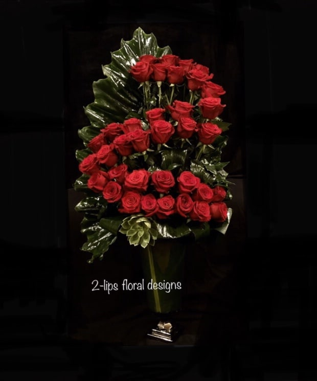 Thinking Of You Rose Bouquet By 2 Lips Floral Design
