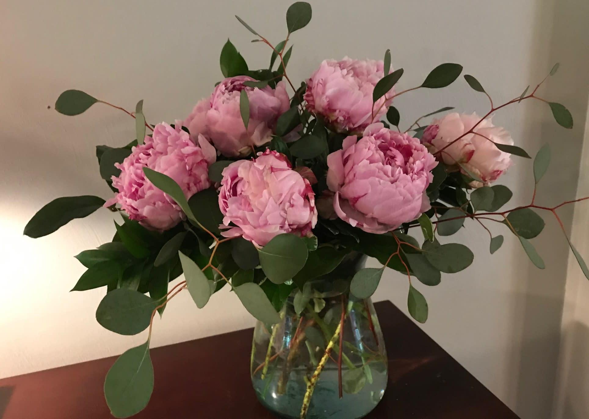Pink Peonies Flower Delivery Norfolk Virginia In Norfolk Va