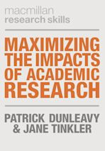 Maximizing the Impacts of Academic Research cover
