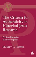 Criteria for Authenticity in Historical-Jesus Research cover