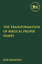 The Transformation of Biblical Proper Names cover