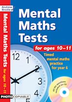 Mental Maths Tests for ages 10-11 cover