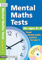 Mental Maths Tests for ages 8-9 cover