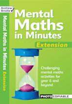 Mental Maths in Minutes Extension cover