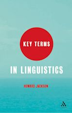 Key Terms in Linguistics cover