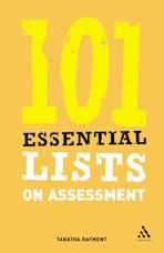 101 Essential Lists on Assessment cover