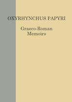 The Oxyrhynchus Papyri LXXXI cover