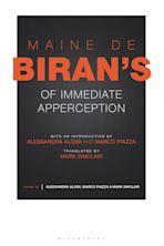 Maine de Biran's 'Of Immediate Apperception' cover