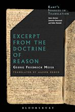Excerpt from the Doctrine of Reason cover