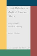 Great Debates in Medical Law and Ethics cover