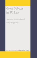 Great Debates in EU Law cover
