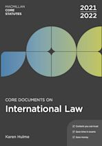 Core Documents on International Law 2021-22 cover