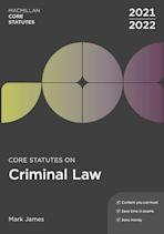 Core Statutes on Criminal Law 2021-22 cover