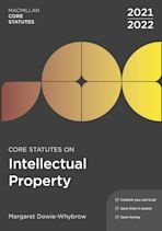 Core Statutes on Intellectual Property 2021-22 cover