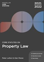 Core Statutes on Property Law 2021-22 cover