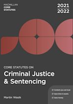 Core Statutes on Criminal Justice & Sentencing 2021-22 cover