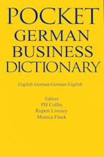 Pocket Business German Dictionary cover