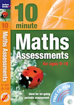 Ten Minute Maths Assessments ages 9-10 (plus CD-ROM) cover