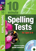 Ten Minute Spelling Tests for ages 8-9 cover