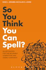 So You Think You Can Spell? cover