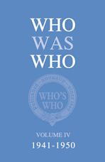 Who Was Who Volume IV (1941-1950) cover
