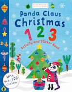 Panda Claus Christmas 123 Activity and Sticker Book cover