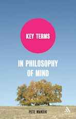 Key Terms in Philosophy of Mind cover