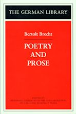 Poetry and Prose: Bertolt Brecht cover