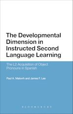 The Developmental Dimension in Instructed Second Language Learning cover
