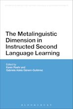 The Metalinguistic Dimension in Instructed Second Language Learning cover