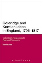 Coleridge and Kantian Ideas in England, 1796-1817 cover