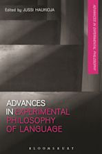 Advances in Experimental Philosophy of Language cover