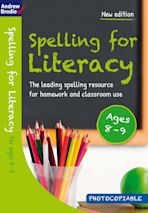 Spelling for Literacy for ages 8-9 cover
