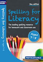 Spelling for Literacy for ages 7-8 cover