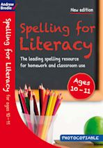 Spelling for Literacy for ages 10-11 cover