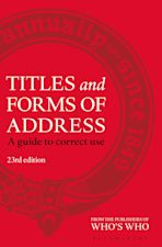 Titles and Forms of Address cover