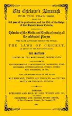 Wisden Cricketers' Almanack 1866 cover