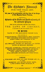 Wisden Cricketers' Almanack 1867 cover