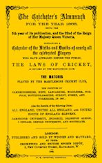 Wisden Cricketers' Almanack 1868 cover