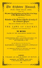Wisden Cricketers' Almanack 1869 cover